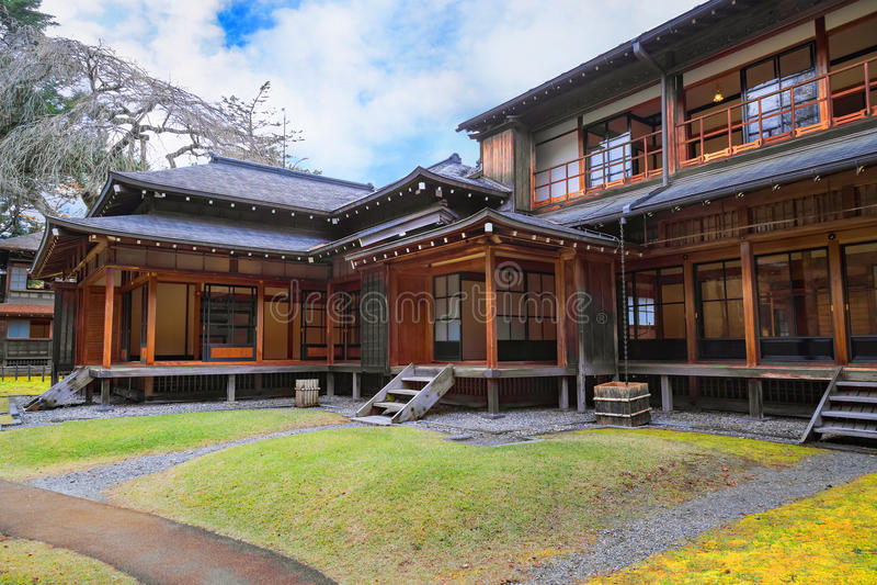 Kaiserlandhaus Tamozawa in Nikko, Japan lizenzfreies stockbild