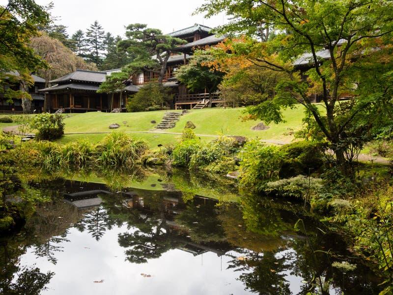 Kaiserlandhaus Tamozawa in Nikko, Japan stockbilder
