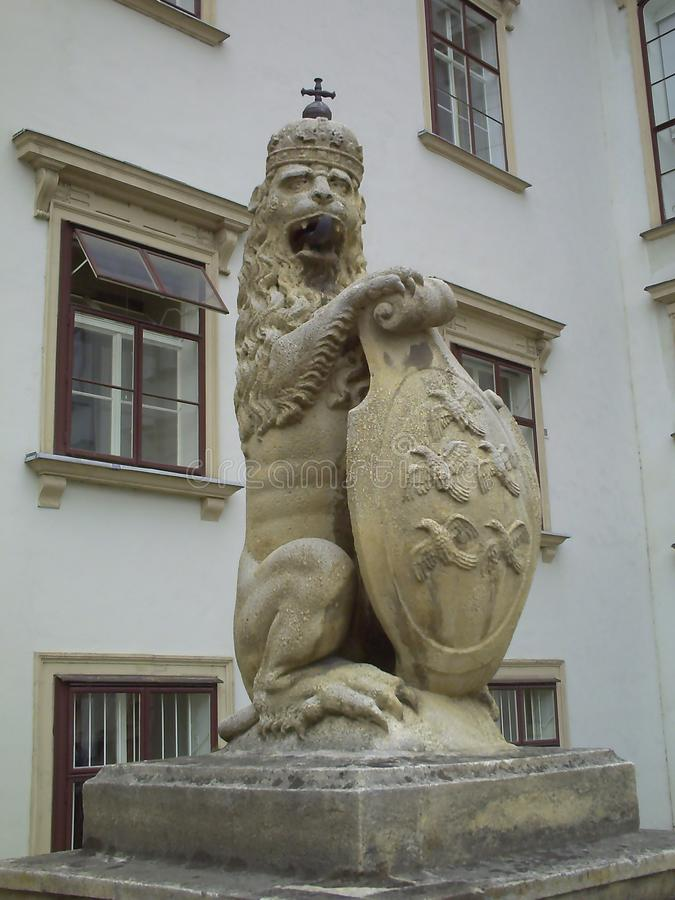 Kaiserpalasteingang Hofburg in Wien, ?sterreich stockfotografie