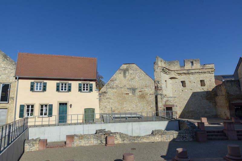 Kaiserpfalz dans Ingelheim, Allemagne images libres de droits