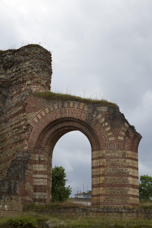 Kaiserthermen Ruinas de los baños romanos imperiales en el Trier, Germa imagen de archivo libre de regalías
