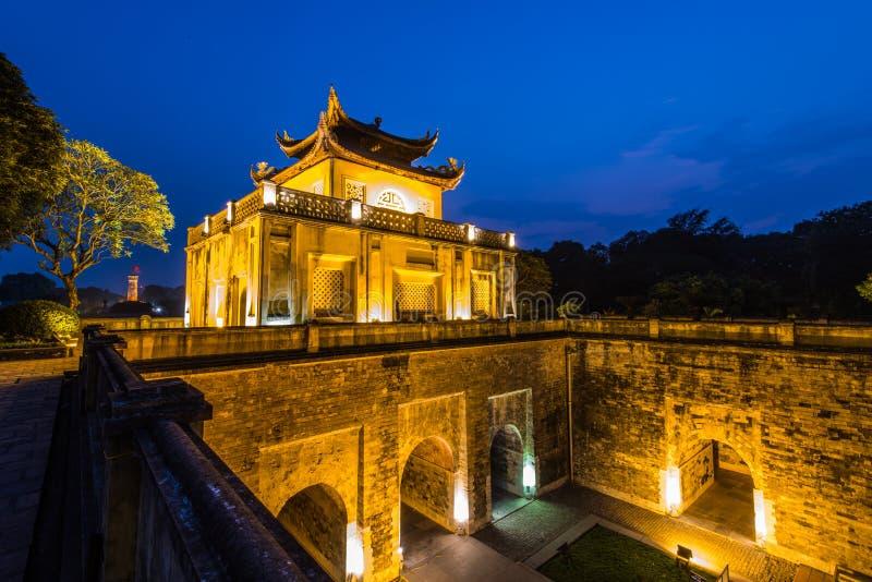 Kaiserzitadelle von Hanoi stockfotos