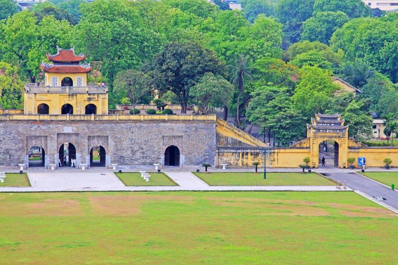 Kaiserzitadelle von Thăng lang, Vietnam UNESCO-Welterbe stockfotografie