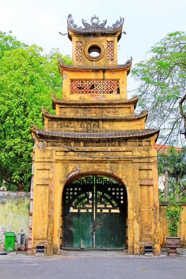 Kaiserzitadelle von Thăng lang, Vietnam UNESCO-Welterbe lizenzfreie stockfotos
