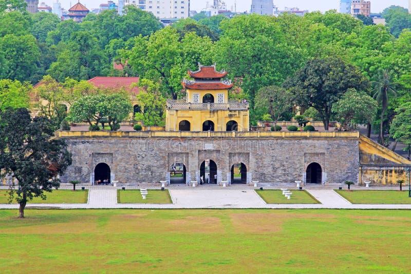Kaiserzitadelle von Thăng lang, Vietnam UNESCO-Welterbe stockbild