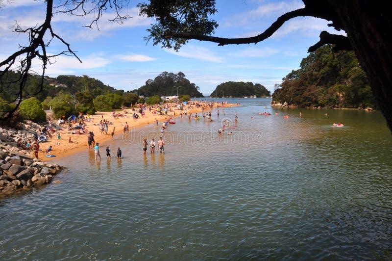 kaiteriteri plażowa laguna nowy Zealand zdjęcia stock
