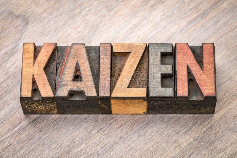 Kaizen - συνεχής έννοια βελτίωσης στοκ εικόνες