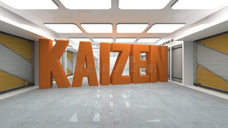 Kaizen-Innenraum stock abbildung