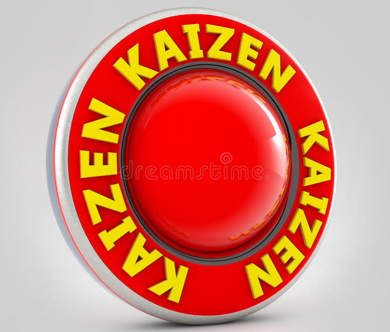 Kaizen tecken stock illustrationer