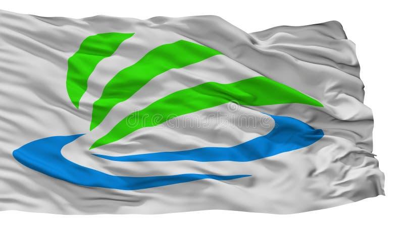 Kaizu市旗子,日本,章节专区,隔绝在白色背景 向量例证