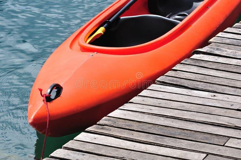 Kajak arancione fotografia stock libera da diritti