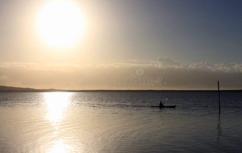 Kajak di alba fotografia stock libera da diritti