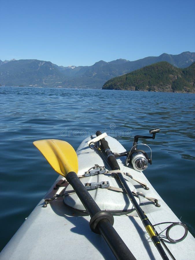 Download Kajak ed asta di pesca immagine stock. Immagine di attivo - 3127087