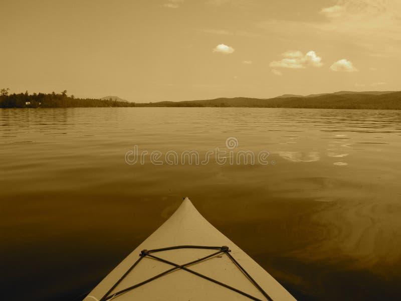 Kajak op Open Water royalty-vrije stock foto