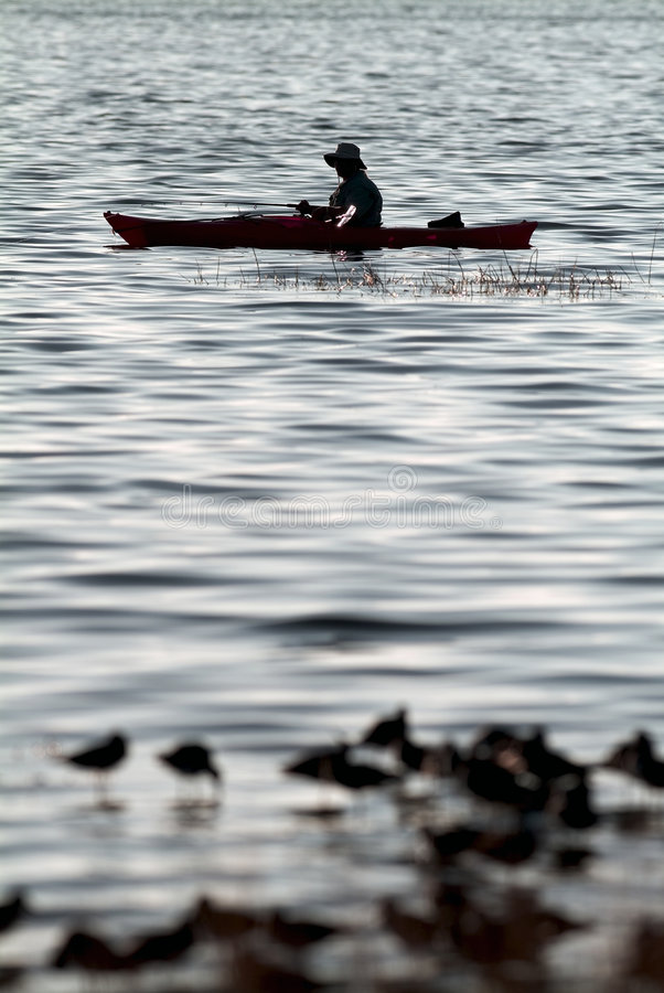 kajak połowów zdjęcia stock