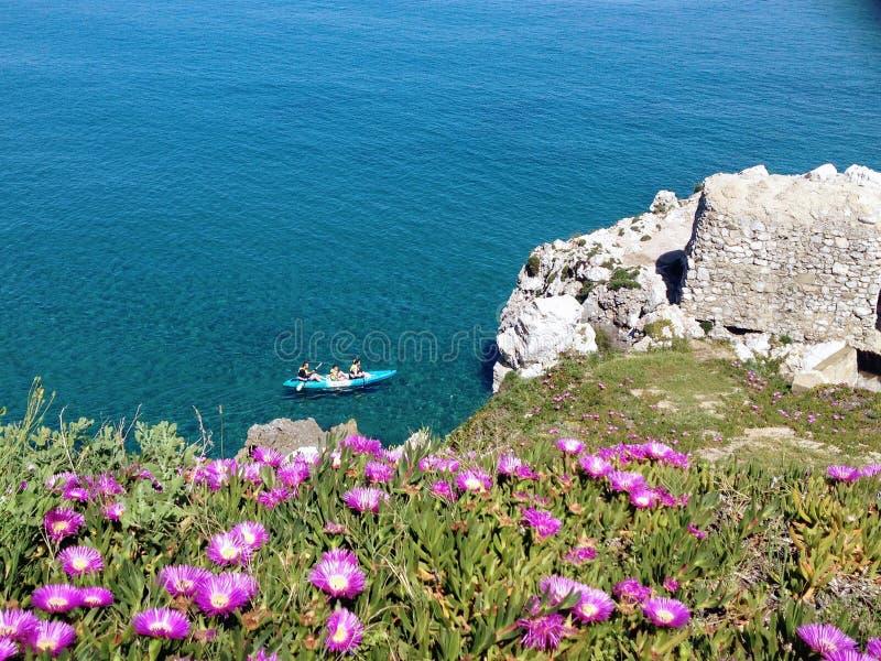 Kajak w morzu zdjęcia stock