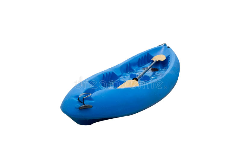 Kajaka błękitny paddle i łódź obrazy stock
