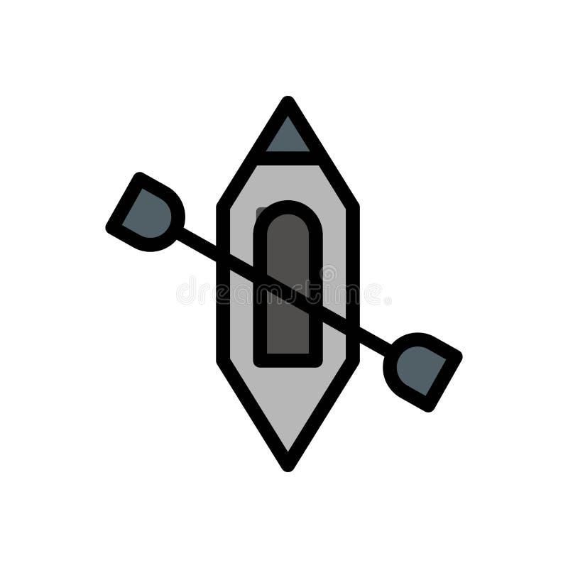 Kajaka kajakowego lata logo wektorowa ikona lub ilustracja Editable kolor i uderzenie Doskonali? u?ywa dla wzoru i projekta grafi royalty ilustracja