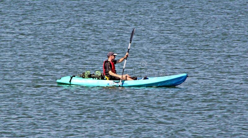 Kajakarka w łódkowatej rasie zdjęcia royalty free