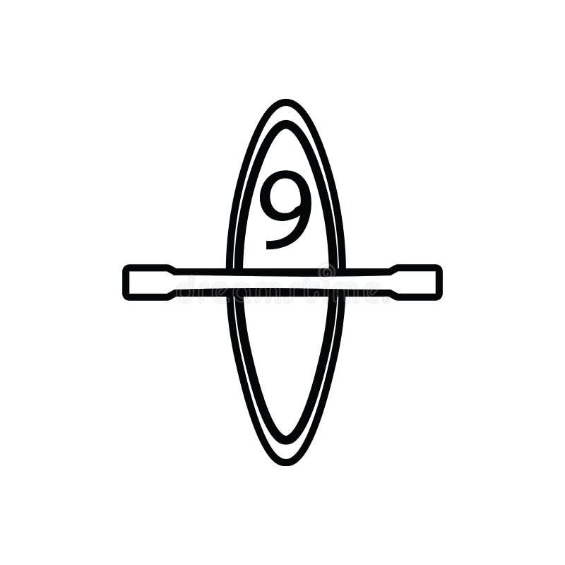 Kajakowa ikona Element sport dla mobilnego poj?cia i sieci apps ikony Kontur, cienka kreskowa ikona dla strona internetowa projek royalty ilustracja