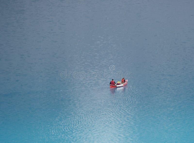 kajakowa morena lake fotografia stock