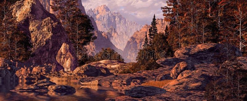 kajakowych gór skalista wycieczka obraz royalty free