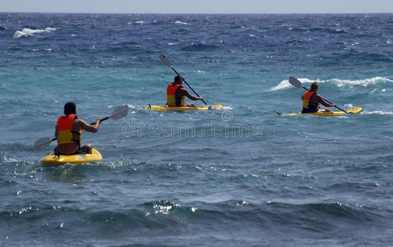 Kajaks op zee royalty-vrije stock fotografie