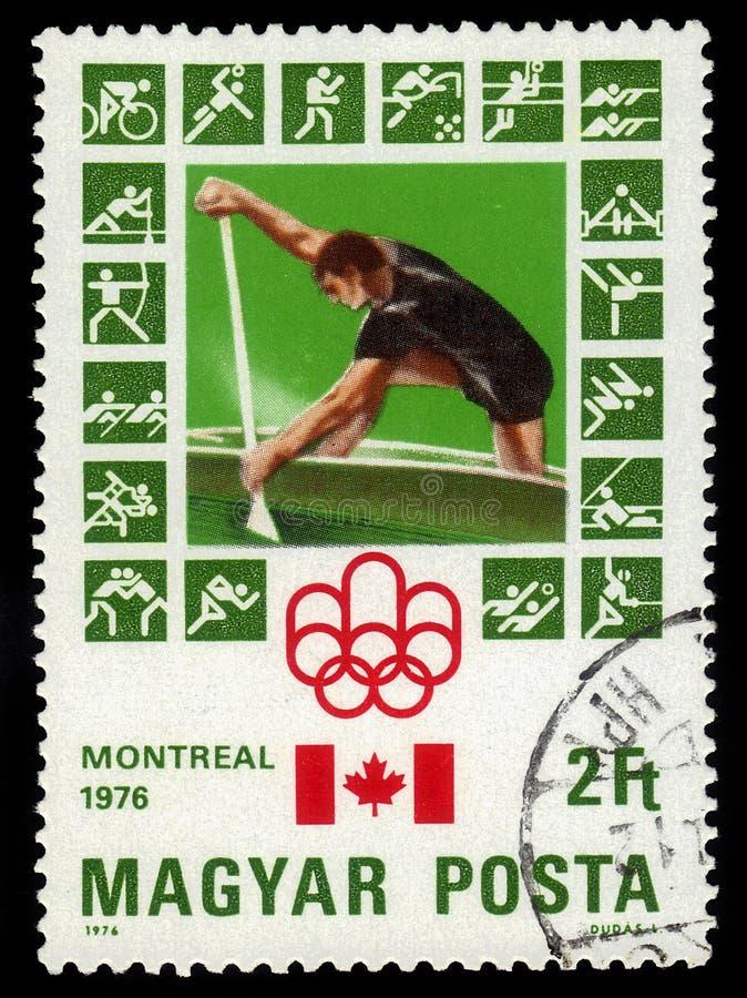 Kajakujący, 21st letnie igrzyska, Montreal 1976 zdjęcia royalty free