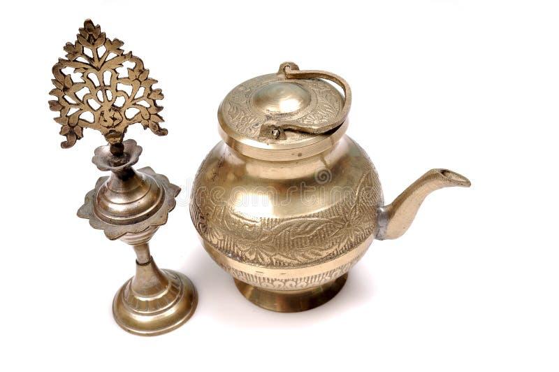 Download Kajal Bottle And Antique Copper Vessl Stock Image - Image: 9851505