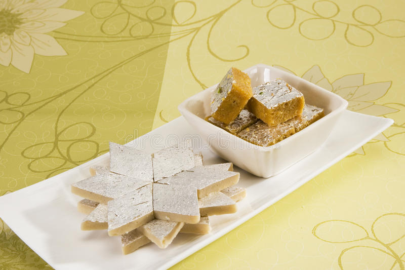 Kaju Barfi Or Kaju Katli royalty free stock photo