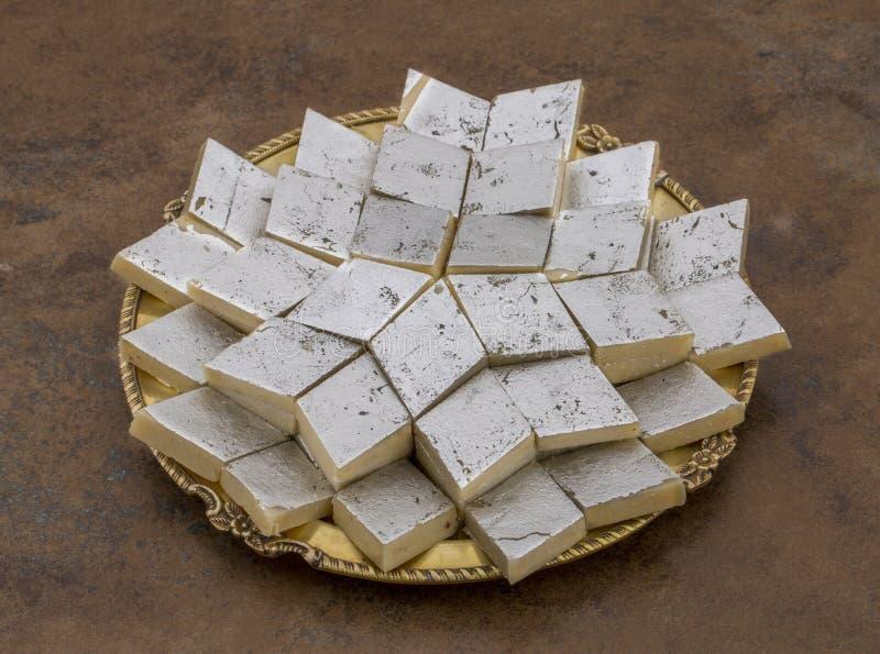 Kaju Katli imagens de stock royalty free
