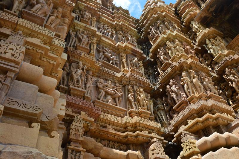 Kajuraho, ναοί Kamasutra στοκ εικόνα