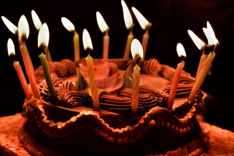 Kaka för födelsedagparti arkivbilder