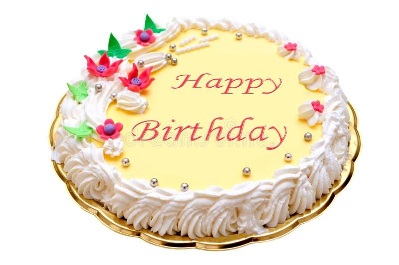 Kaka för lycklig födelsedag arkivfoton