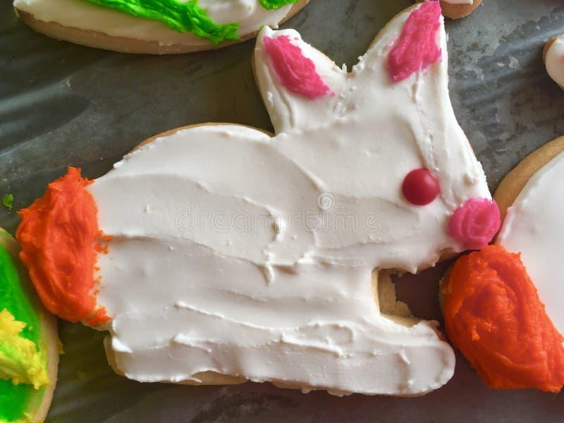 Kaka för socker för påskkanin royaltyfri foto