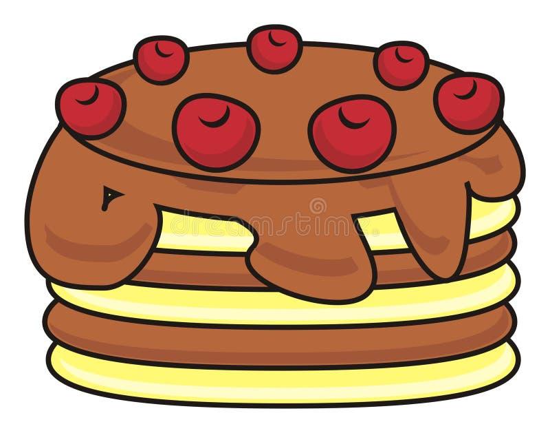 Kaka med åtskilliga lager royaltyfri illustrationer
