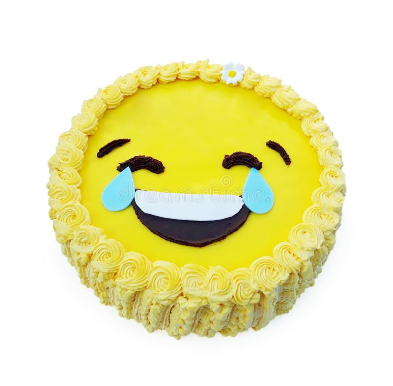 Kaka med ett leende royaltyfria bilder
