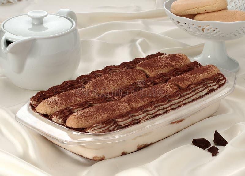 Kaka med gräddost och choklad arkivbilder