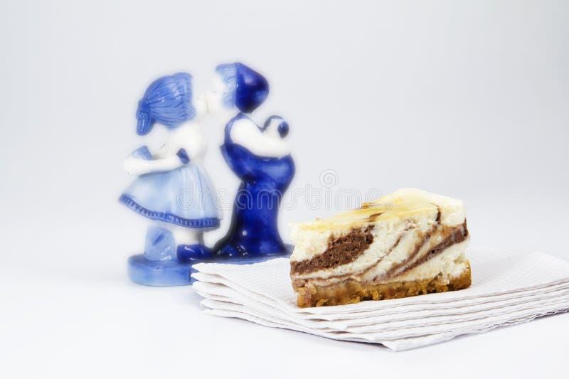 Kaka med par royaltyfria foton