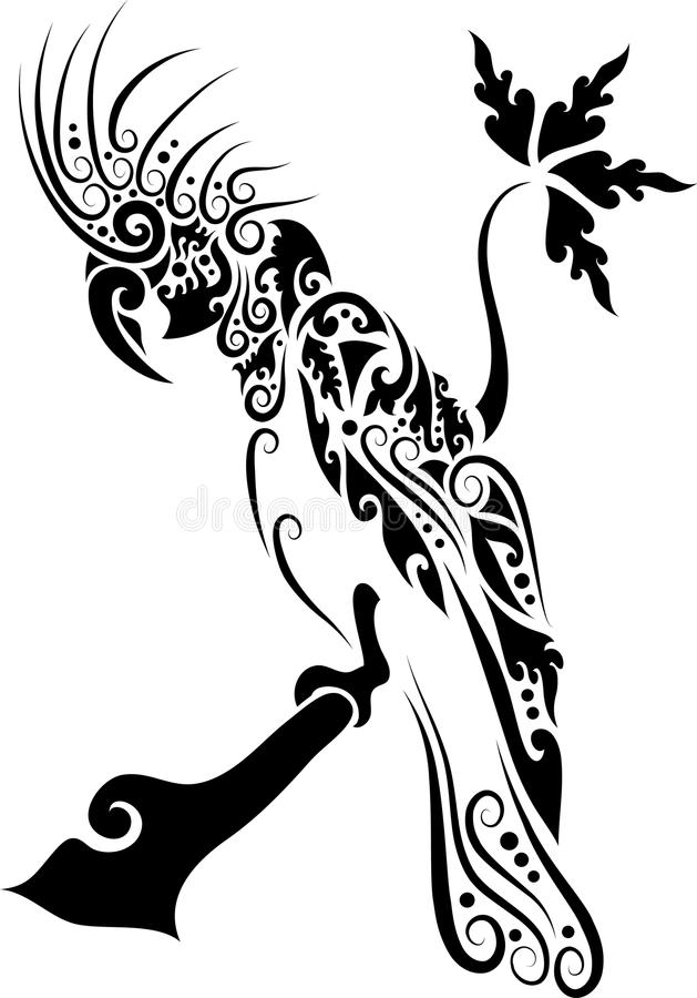 kakadu ornament royalty ilustracja