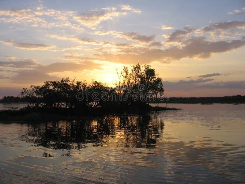 Kakadu's Sunset. Kakadu National Park in Australia royalty free stock photo