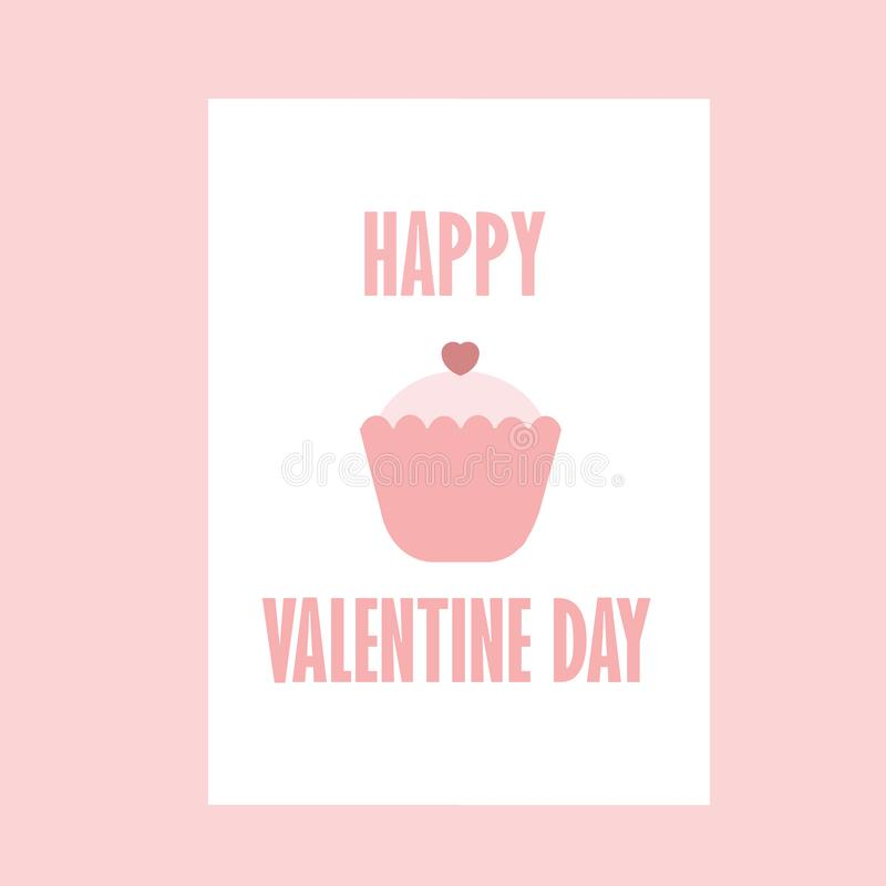 Kakahjärta lyckliga Valentine Day With Color Pink - romantiker - jag älskar dig vektor illustrationer