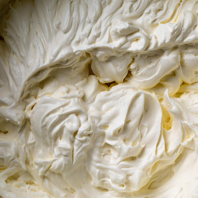 Kakakräm piskad kräm Kräm- textur Buttercream textur royaltyfri bild