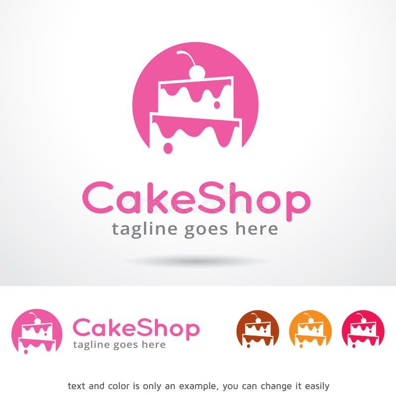 Kakan shoppar Logo Template Design Vector vektor illustrationer