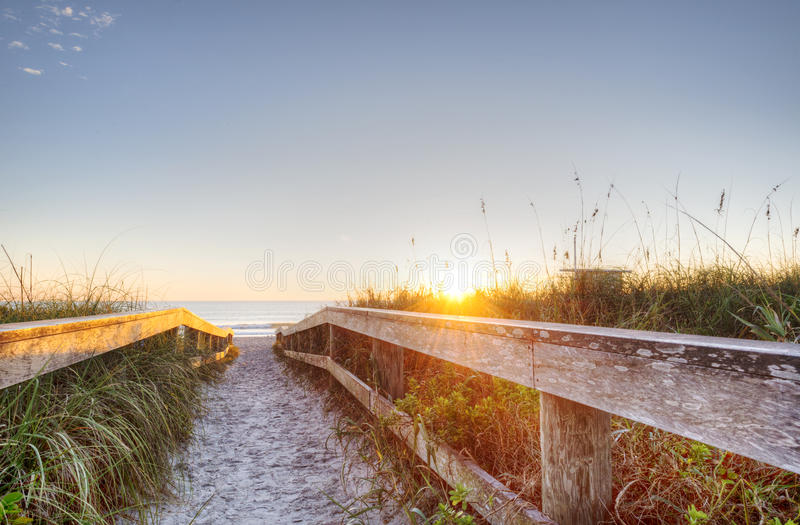 Kakao-Strand, Florida lizenzfreies stockfoto