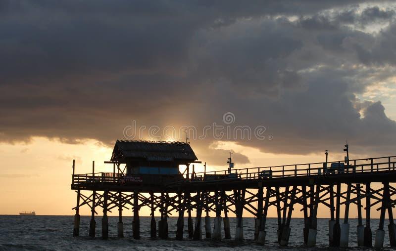 Kakao-Strand-Pier stockbilder