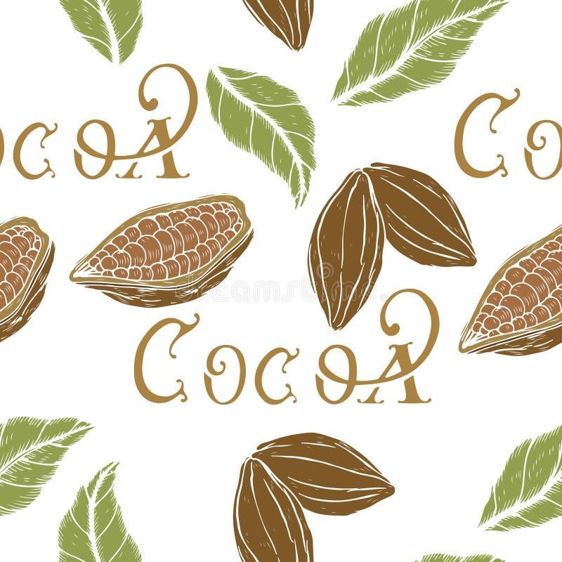 Kakao wzór royalty ilustracja