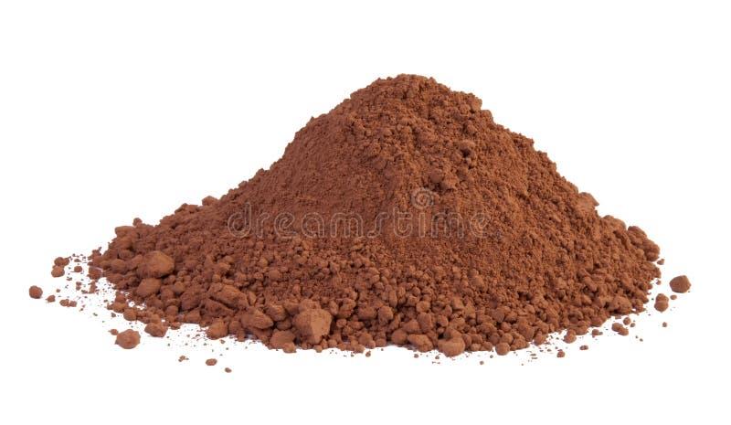 Kakaon pudrar arkivfoto