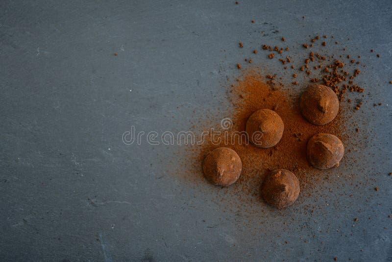 Kakaotryfflar fotografering för bildbyråer