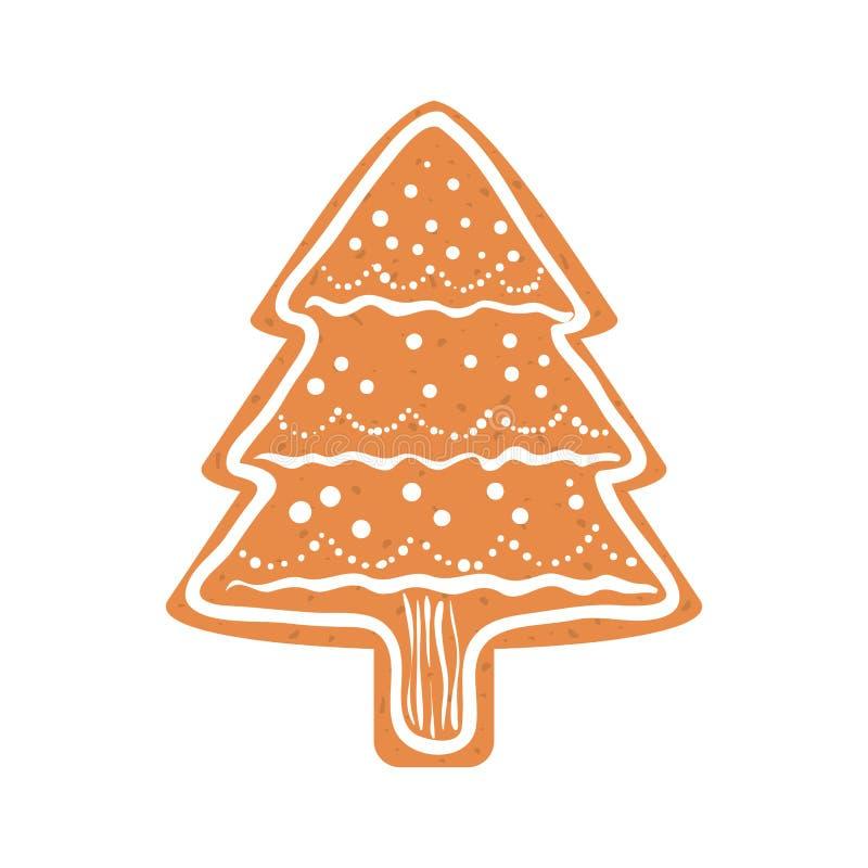 Kakasymbol Design för glad jul som stylized swirlvektorn för bakgrund det dekorativa diagrammet vågr royaltyfri illustrationer